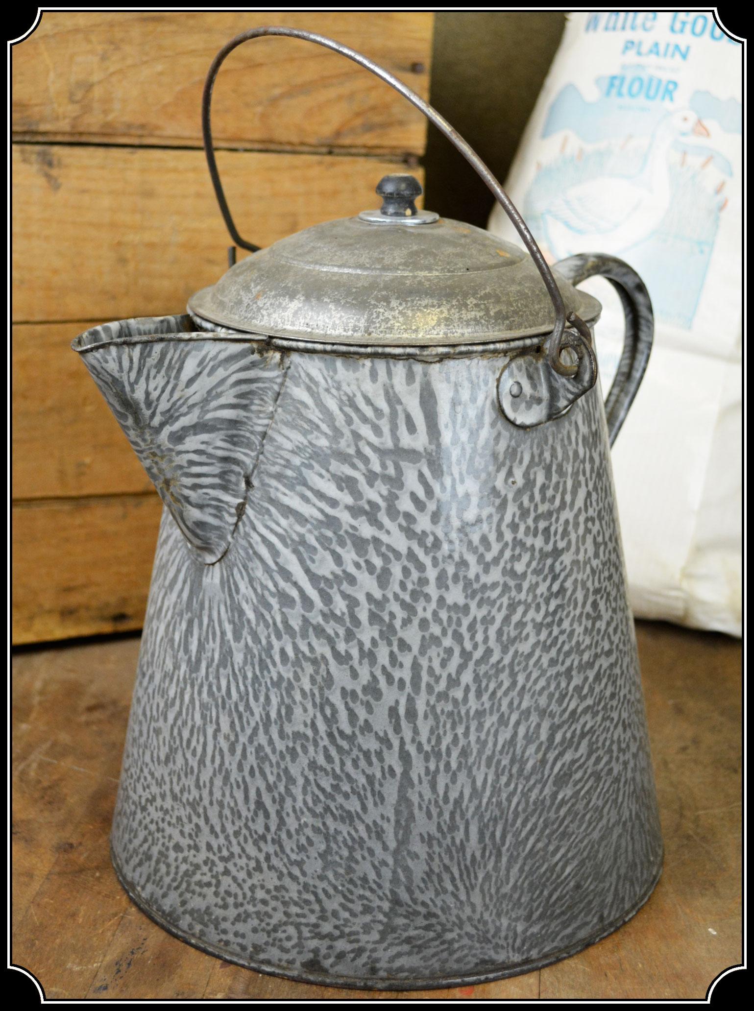 Cowboy Granite Enamel Coffee Pot Click To Enlarge Image