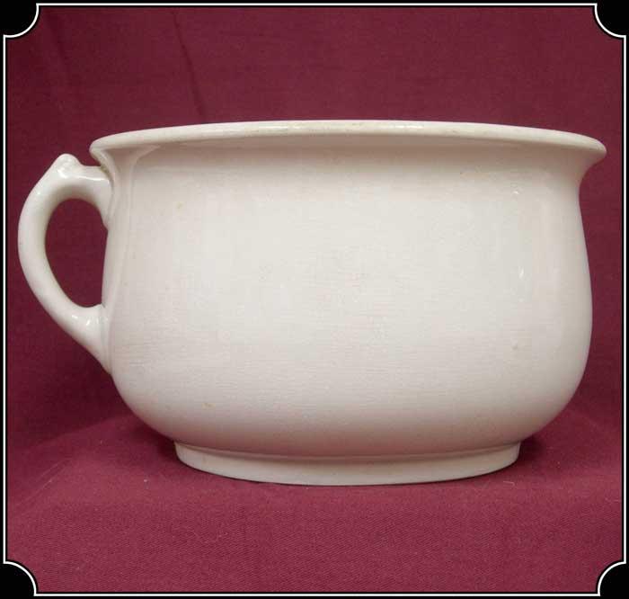 Antique chamber pot made in the united kingdom - Pot de chambre antique ...