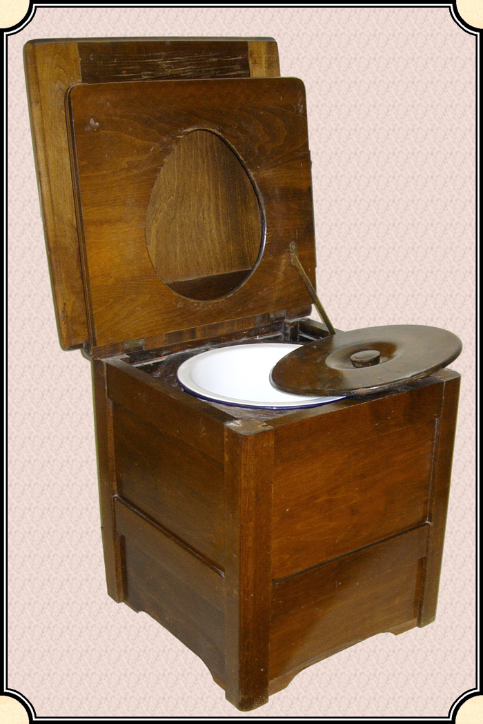 Chamber Pot Chair - Click to Enlarge - Z Sold ~ Chamber Pot Chair. Just When You Thought Your Camp Had