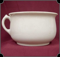 Antique Stoneware Chamber Pot - Plain Design