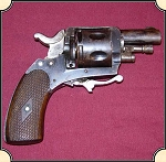 z Sold British Bulldog Revolver with Folding Trigger, Antique