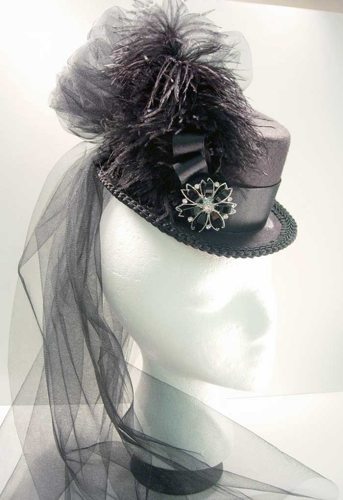Sold 19th Century Victorian Top Hat Steam Punk Clothing