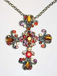 z-SOld Jewelry - Austrian Crystal Cross Necklace