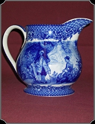 Porcelain Pitcher with Blue Motif