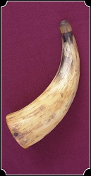 Curio - Original Antique powder horn