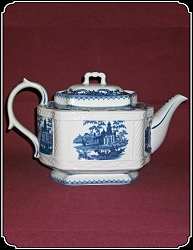 Tea Pot - Victorian White Porcelain