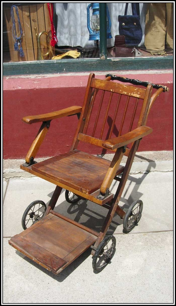 - Z Sold ~ Rare But Sturdy Antique Wheelchair