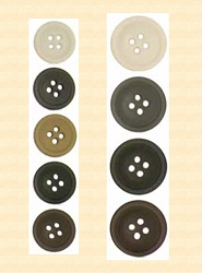 Buttons ~ Rimmed Buttons Buy 12 Buttons - of one-size one color