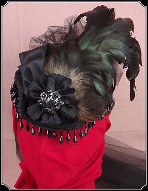274ac3f13b4ba Ladies Black Felted Wool Petite French Gem Old West Hat