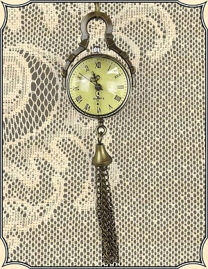 Jewelry ~ 19th Century Glass Globe Watch and Chain