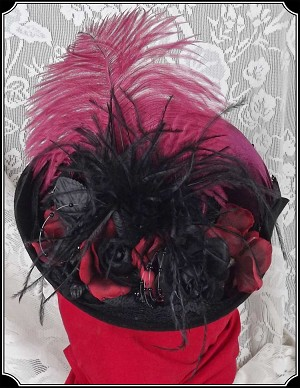 Ladies French Hat with Burgundy