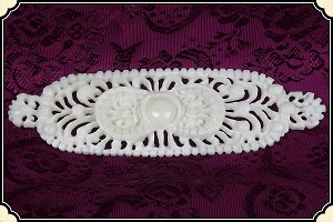 Jewelry - Hand-carved Bone ~ Victorian Filigree Brooch Pin