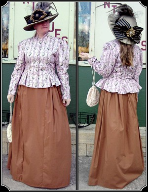 Outfits - Ladies Victorian Outfit - Gored Peplum Jacket and Skirt