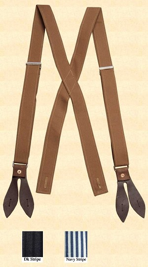 Suspenders - Adjustable X-Back Canvas Suspenders #242