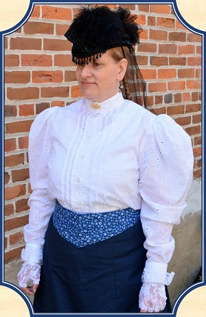 Blouse - Beautiful White Eyelet Cotton Shirtwaist Heirloom Brand