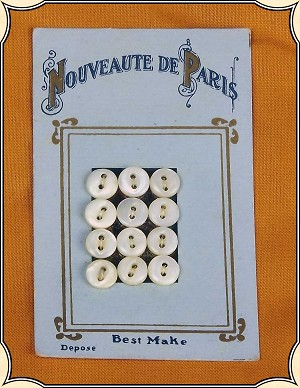 Nouveaute De Paris Buttons For Doll or Baby