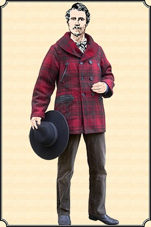 Premium Mackinaw Coat - Red Wool with Lining - Heirloom