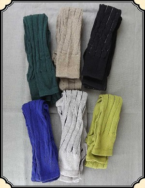 Cotton Knee Hose with Vertical Stripes