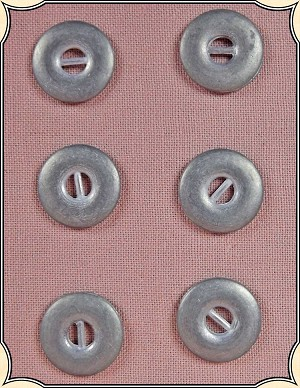 Buttons ~ Pewter Buttons Pack of 6