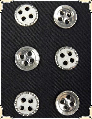 Buttons ~ Small Civil War Metal Covered Paperback Buttons Pack of 6