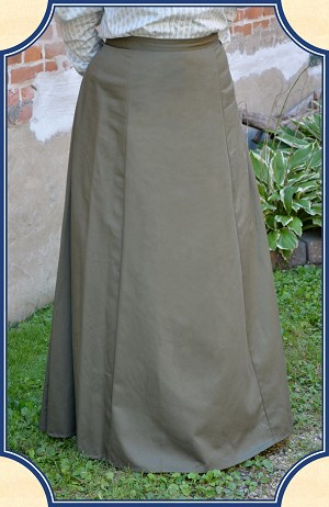 Skirt - Ladies Walking Skirt in Olive Green Twill Heirloom Brand