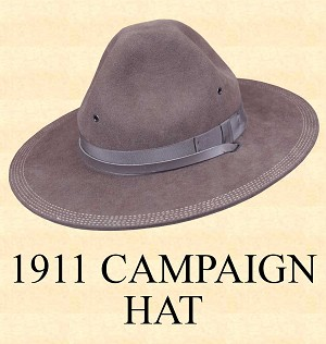 Men's Hat - 1911 CAMPAIGN HAT Hat Body Wool Felt