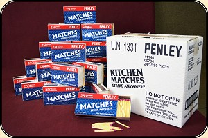 Case of STRIKE ANYWHERE Kitchen matches. Perfect for your Vesta or MatchSafe