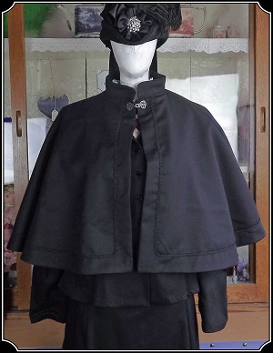 Cape - Ladies Salvation Army or Military Inspired Victorian Short Cape