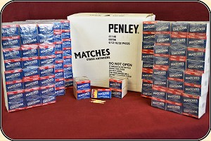 1 Case of  Wooden Pocket Size STRIKE ANYWHERE Matches 23040 matches