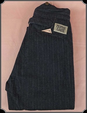 Z Sold - Frontier Classics Black Stripe Trousers Size 26