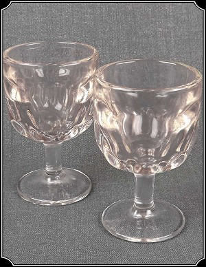 Saloon - Rose Tinted Coin Dot Goblets Set of 2