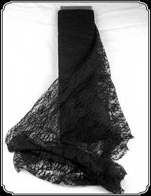 Fabric - Over Lace In Black your choice of pattern