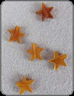 Beads - Star Beads Made of Horn