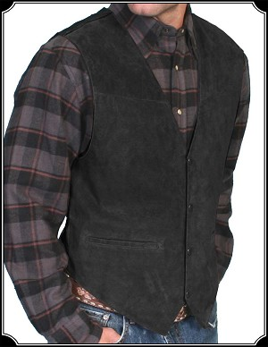 Cowboy Suede Leather Vest From Scully
