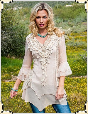 Ladies Ruffles and Lace Blouse ~ Scully
