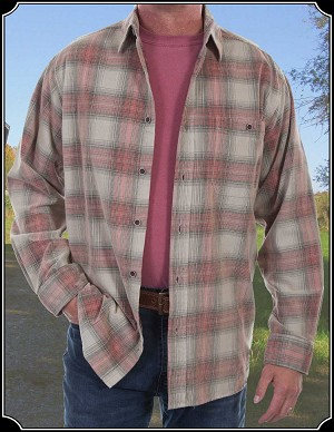 Corduroy Plaid Shirt Scully