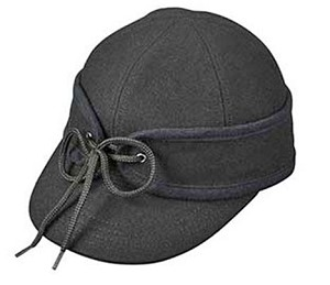 Men's Hat - Stormy Weather Black Railroad Cap