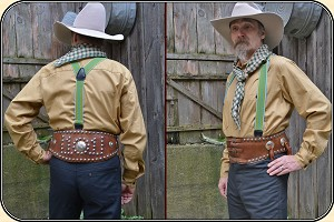 Studded Bronc Belt With Conchos