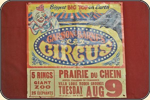 Carson and Barnes Circus poster. 31 x 30.25 inches