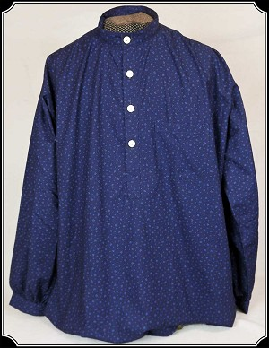 Shirt - Navy and Blue Calico Old West Festus Shirt
