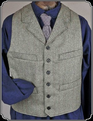 Vest - Herringbone Worsted Wool Vest Heirloom Brand
