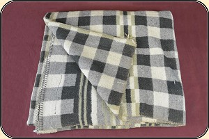 (Make Offer) Tan and Gray Plaid Horse Blanket 1of 2