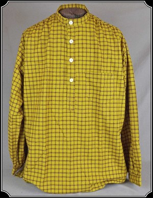Shirt - Cotton Yellow Gold Plaid Festus Heirloom Brand