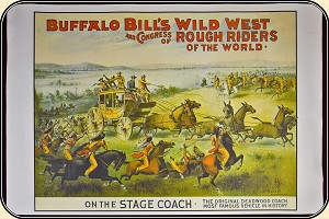 z Sold  Buffalo Bill Wild West Show 1984 Print  38 x 25
