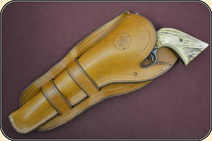 z-Sold Left Hand Holster - Mexican Double Loop Holster Copied from original in the River Junction Collection