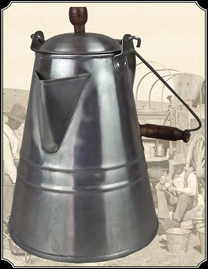 Large Tin Coffee Pot