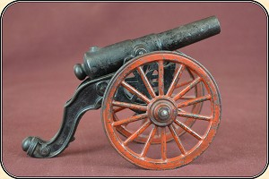 z-Sold Antique Old US Copper Cast Iron Black Powder Signal Cannon