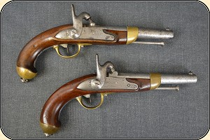 Pair of Civil War French Pistols Use by the Confederacy