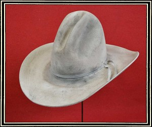 Close Out Hat - quality wool felt hat size 6 7/8  Tom Horn Styled hat Distressed Level 2