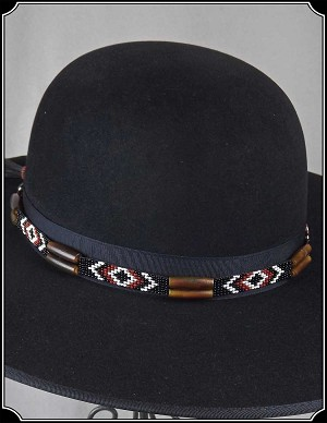 Glass Quill and Bead Hat Band